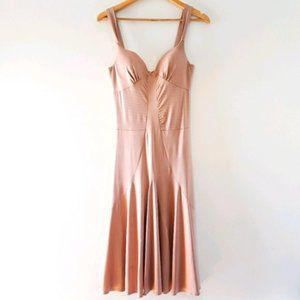 Andy The Anh Dusty Pink Midi Dress Size 2.